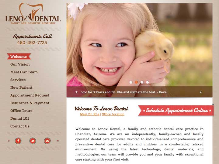 lenox dental web design