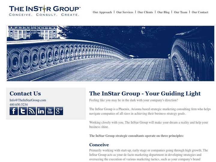instar group web design