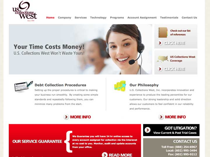 us collections west web design